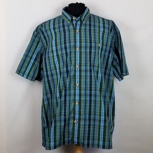 Duluth Trading Co XL Short Sleeve Shirt Button